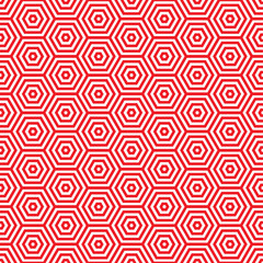 Retro red seventies pattern