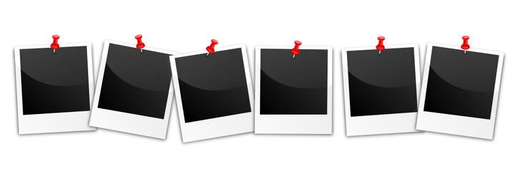 Polaroids in Reihe