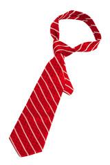 red striped necktie