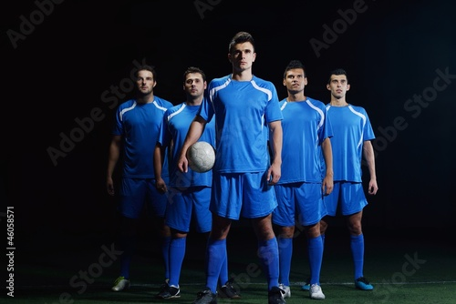 canvas print picture soccer players team