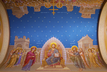 Religious fresco on ceiling