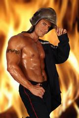 pompier transpirant ...