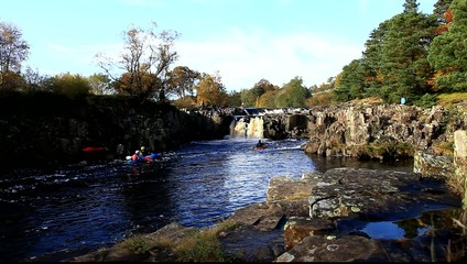 kayaking on river tees teesdale england