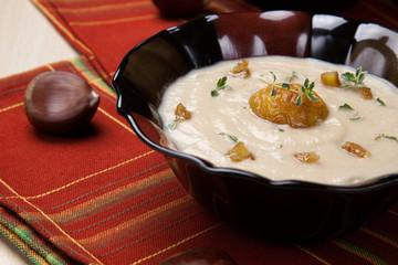Chestnut Kohlrabi Soup