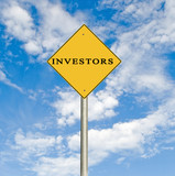 Road sign to investors poster