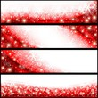 Red Christmas Banners