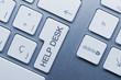 Help desk. Keyboard key. Blue