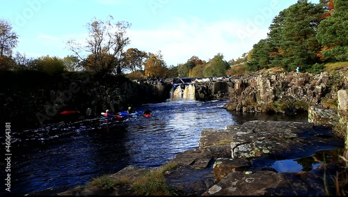 kayaking on the river tees teesdale england
