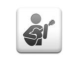 Boton cuadrado blanco guitarrista