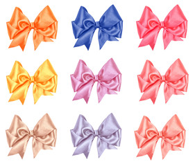 varicolored bow set