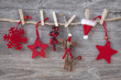 Wooden christmas deer and red stars
