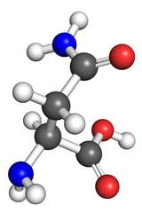 Asparagine molecule