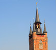 Antique belfry tower in courtrai, flanders, belgium