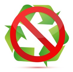 do not recycle illustration design