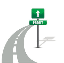 Profit road illustration design concept