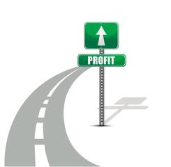 Profit road illustration design concept