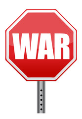 red stop war sign illustration design