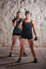 Women Doing Boot Camp Style Workout