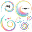 colorful swirl shapes, design elements