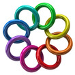 Color wheel of colorful rings