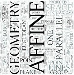 Affine geometry Discipline Study Concept