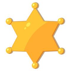 Cartoon gold star sheriff. eps10