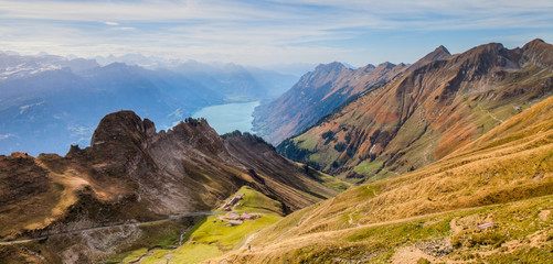 Bernese Alps and Lake Brienz
