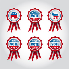 badges U.S presidential election 2012