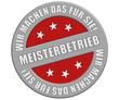 Schild graurot rund rt WMDFS MEISTERBETRIEB