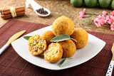 Arancini rice and meat