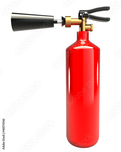 Fire extinguisher (isolated) 3d