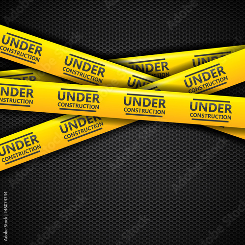 Under construction caution tapes, vector