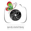 Photography company logo  vector