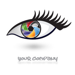 Photography Company Logo Eye Style #Vector