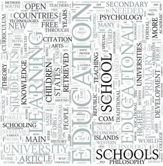 Education Discipline Study Concept