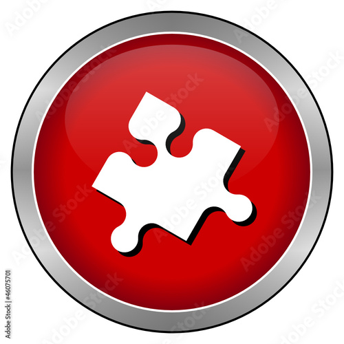 Roter Puzzleteil-Button