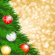 christmas tree and baubles