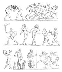 Greek Athletes - Olympic Games - Antiquity