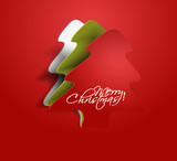 Fototapety peel of christmas tree, design, vector illustration.