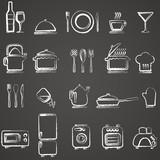 Fototapety Vector kitchen icons set