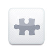 Vector white puzzle icon. Eps10. Easy to edit