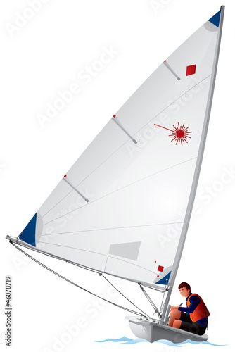 Sailboat Laser dinghy