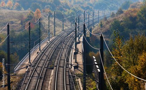 Moderne Bahnahnlage