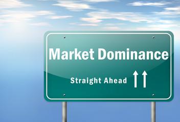 "Highway Signpost ""Market Dominance"""