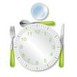 assiette pendule - Midi pause déjeuner