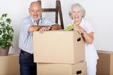 Fototapety lachendes älteres paar beim umzug