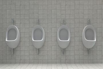 Urinale in einem öffentlichen WC