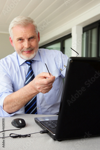 Grey haired businessman