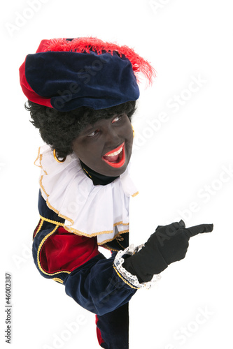 Dutch black pete with white board
