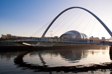 The Millenuim Bridge, Newcastle Upon Tyne, England.